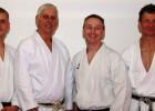 Die Trainer der Karate-Schule Nippon, die sich in Bremen prüfen ließen (von rechts nach links): Chris Franke, Rolf Hanke Sergej Hanert und Hans Walter.